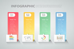 Design clean template infographic. can be used for workflow, layout, diagram Royalty Free Stock Image