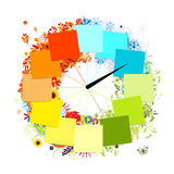 Design of clock. Four seasons, concept. Royalty Free Stock Photos