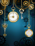 Design with clocks and gears Royalty Free Stock Photo