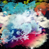 Design of clouds and colors of dream, imagination, fantasy and a Royalty Free Stock Image