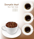 Design coffee background. Vector. Stock Photography