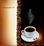Design coffee backgrounds. Vector. Royalty Free Stock Photo