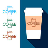Design Coffee Cup Stock Photography