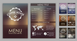 Design coffee menu with blurred background Stock Photography