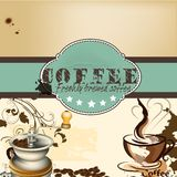 Design of coffee shop or cafe  poster Royalty Free Stock Image
