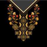 Design for collar shirts, , blouses, T-shirt. Paisley decorative border Stock Photography