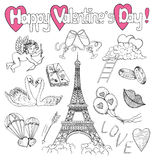 Design collection with Valentines Day love symbols Royalty Free Stock Photography
