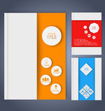 Design color business brochures. Design color brochures for business in geometric style, lines, circles, diamonds and octagons. Set Royalty Free Illustration