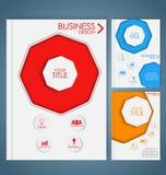 Design color business brochures. With octagon. Set. Vector illustration Vector Illustration