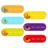 Design color tags with numbers  Stock Image