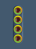 Design colorful circles with glassy balls Royalty Free Stock Photos