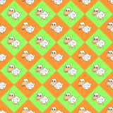 Design colorful diamond children background with f Stock Photography