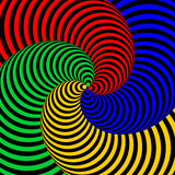 Design colorful movement illusion background Royalty Free Stock Images