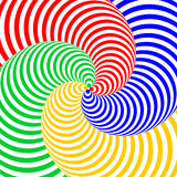 Design colorful swirl circular illusion background Stock Photography