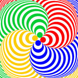 Design colorful swirl circular illusion background Royalty Free Stock Image