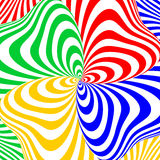 Design colorful swirl movement illusion background Royalty Free Stock Photo