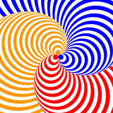 Design colorful twirl circular illusion background Royalty Free Stock Images