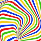 Design colorful vortex illusion background Stock Photo