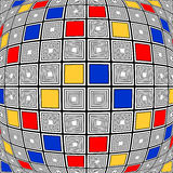 Design colorful warped checked mosaic pattern Royalty Free Stock Images
