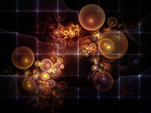 Realms of Fractal Circles Royalty Free Stock Photography