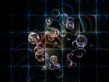 Realms of Fractal Circles Stock Image