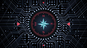 Design Concept of An Analog-Digital Compass Stock Photography