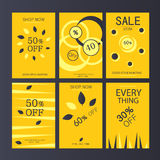 The design concept Autumn sale , discount banners discounts , gift voucher royalty free illustration