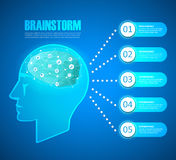 Design concept of a brainstorm, can be used for Innovation, solution Stock Photos