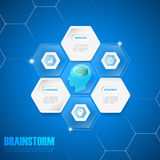 Design concept of a brainstorm, can be used for Innovation, solution Stock Photo