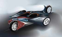 Design concept car. An illustration of design conception of car from the future Stock Image