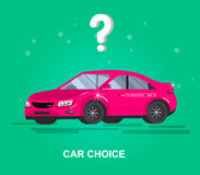 Design concept of choice and buying a car Royalty Free Stock Image