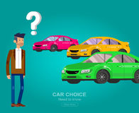 Design concept of choice and buying a car Stock Photography