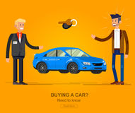 Design concept of choice and buying a car Stock Image