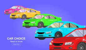 Design concept of choice and buying a car Royalty Free Stock Photos