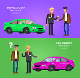 Design concept of choice and buying a car Stock Photo