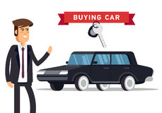 Design concept of choice car and buying. Stock Photography