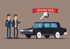 Design concept of choice car and buying. Stock Photos