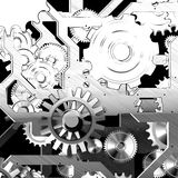 Mechanical Design concept. Concept from drawing to product stock illustration