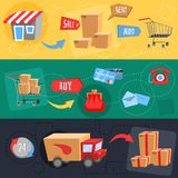 Design concept of e-commerce Stock Photos
