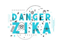 Design concept epidemic of danger zika Stock Photo
