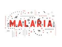 Design concept epidemic of malaria Royalty Free Stock Photo