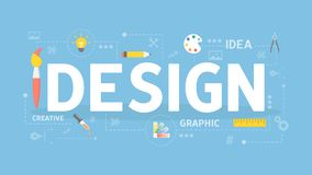Design concept illustration. Colorful icons with words Royalty Free Stock Image