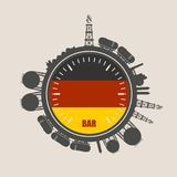 Design concept of natural gas industry. Stock Photos