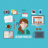 Design concept with objects and devices Stock Photo