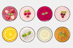 Design Concept Of Mockup Fruit Smoothie And Fruit Juice Set Royalty Free Stock Photo