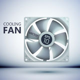 Design concept. Realistic computer cooler Stock Image