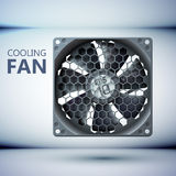 Design concept. Realistic computer cooler Royalty Free Stock Photos
