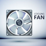 Design concept. Realistic computer cooler Stock Photography