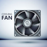 Design concept. Realistic computer cooler Royalty Free Stock Image