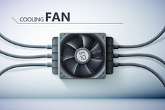 Design concept. Realistic computer cooler Royalty Free Stock Photography